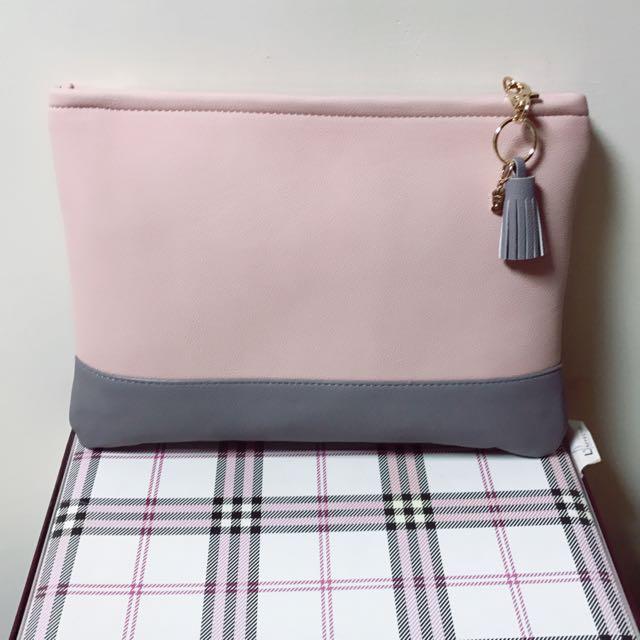 粉紅手拿包