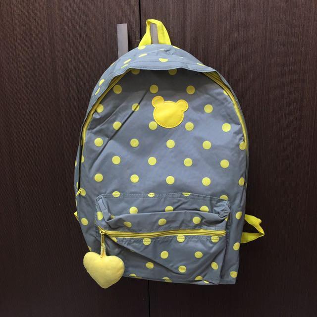 二手⚠️ 黃色點點後背包 韓國ARTBOX購入
