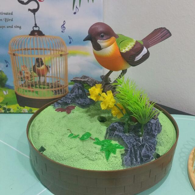 A Decorative Bird In Cage As An Accent To An Indoor Garden