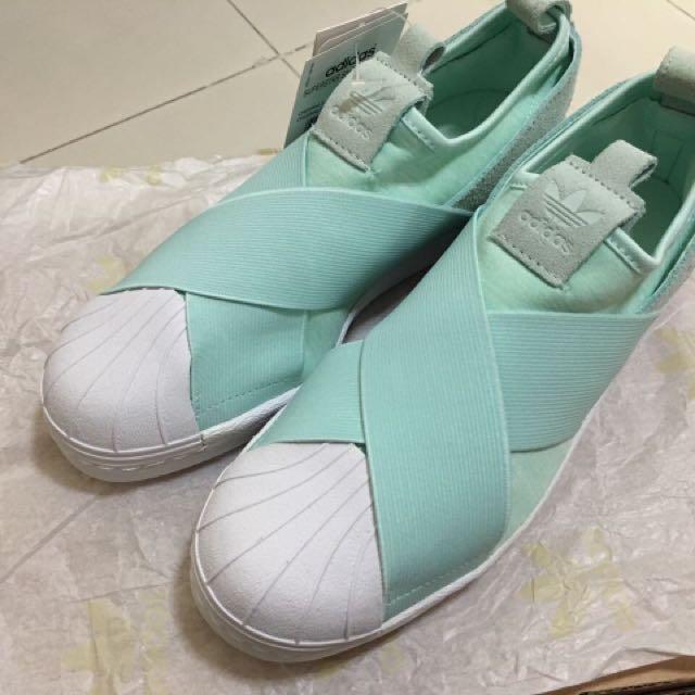 Adidas Superstar Turquoise Slip-on