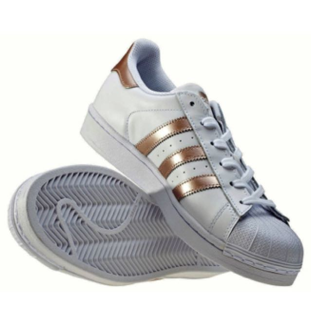 Adidas Superstar Women's Trainers BA8169 Rose Gold / White NEW & 100% Genuine