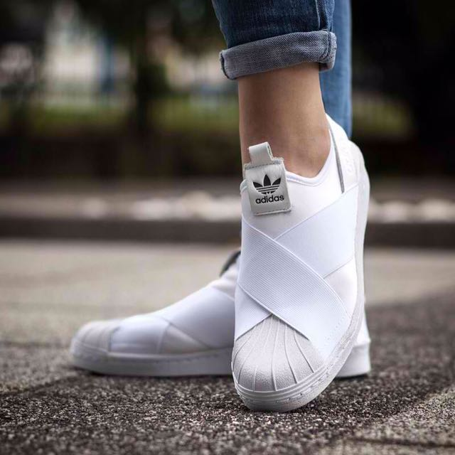 Adidas Triple White Slip In