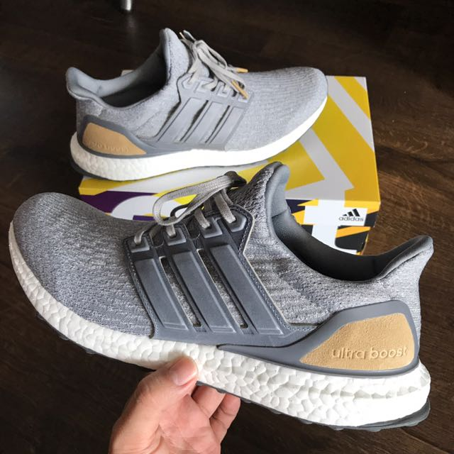 more photos a60ea 93b73 Adidas Ultraboost Boost Us10 Grey With Leather Caged # Nmd ...