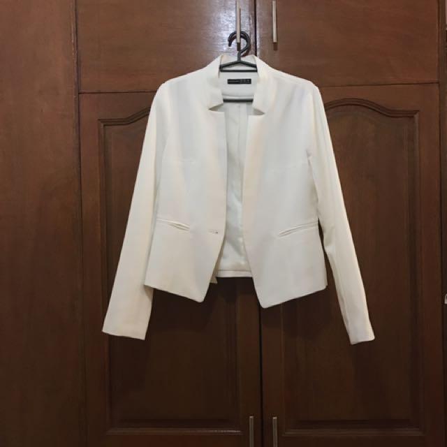 ATMOSPHERE (British Brand) Blazer - White