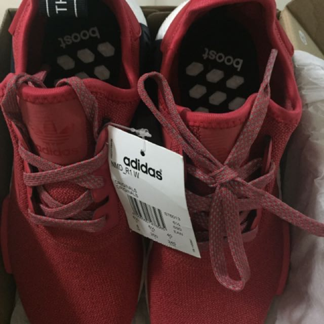 BNID AUTHENTIC ADDIDAS NMD R1  W Red Rubber Shoes
