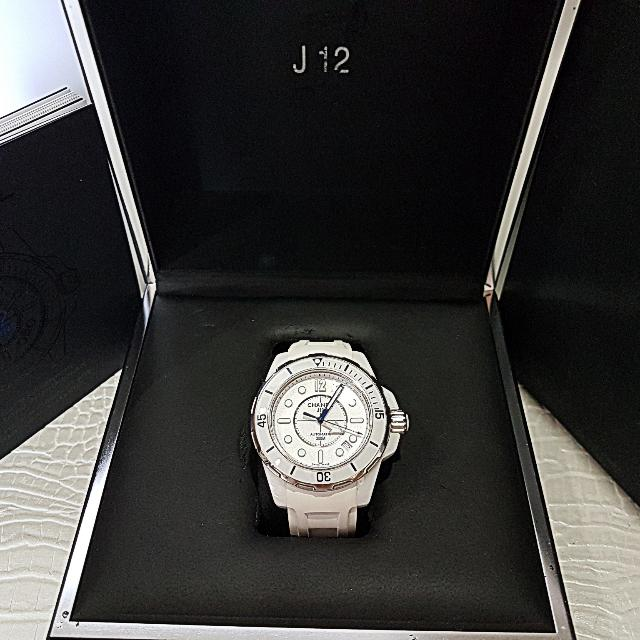6d7cabf9d7cbc Authentic Chanel J12 Marine Automatic Watch    Only For Sale ...
