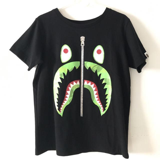 1d477394c Authentic Women's Bape Shark Face Tee, Women's Fashion, Clothes ...