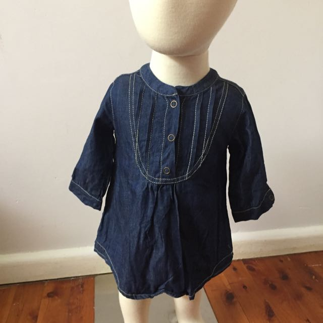 Baby By David Jones Denim Dress Size 00