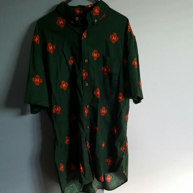 Blackseal Green Patterned Shirt