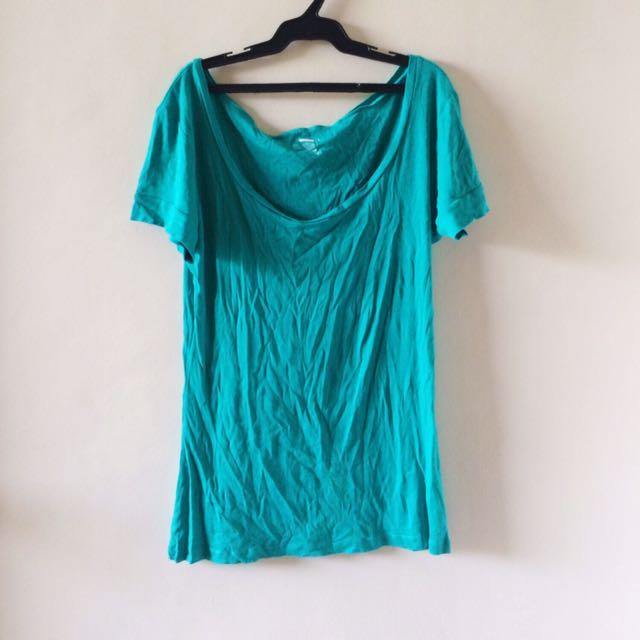 Blue Green Cotton Top
