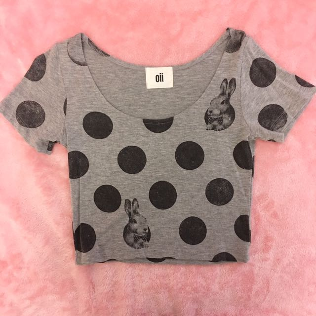 Bunny Polkadot Crop Top