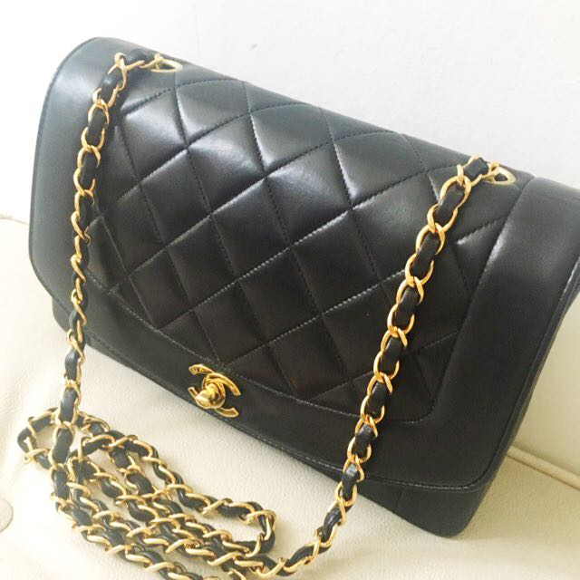 5e948dc1eeb4 Buyer's Order: Yet Another Authentic Chanel Diana Flap In 10'inches,  Classic Lambskin & 24k Gold Hardware, Luxury, Bags & Wallets on Carousell