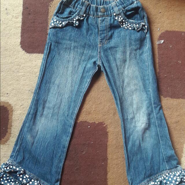 Celana Jeans Polka