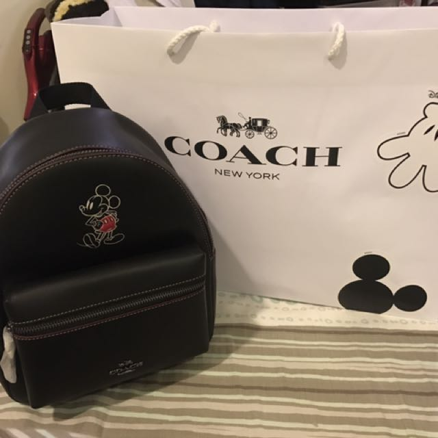 Coach&Disney 米奇mini後背包含運