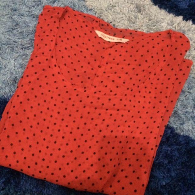 Coolteen Blouse Red Polkadot