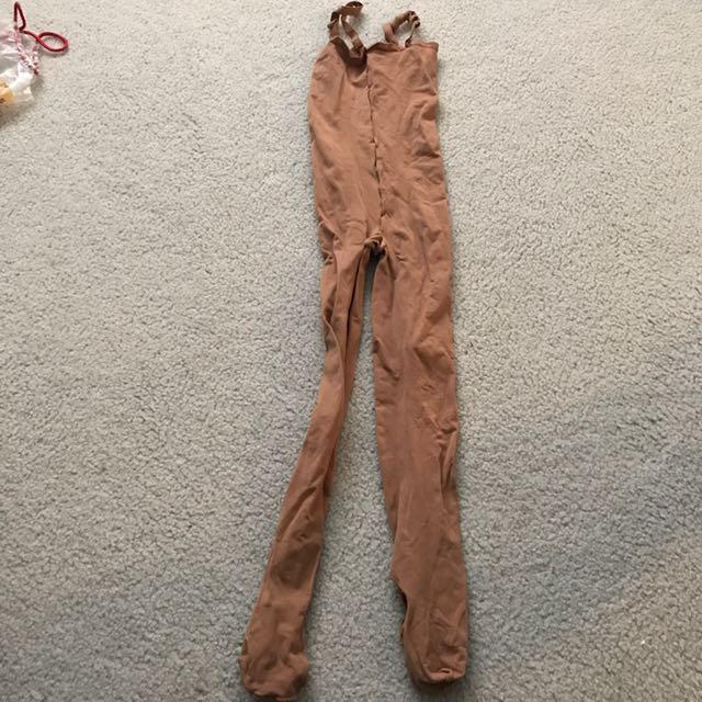 dark beige translucent tights