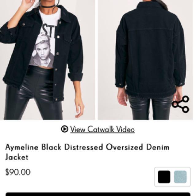 Denim Oversized Jacket