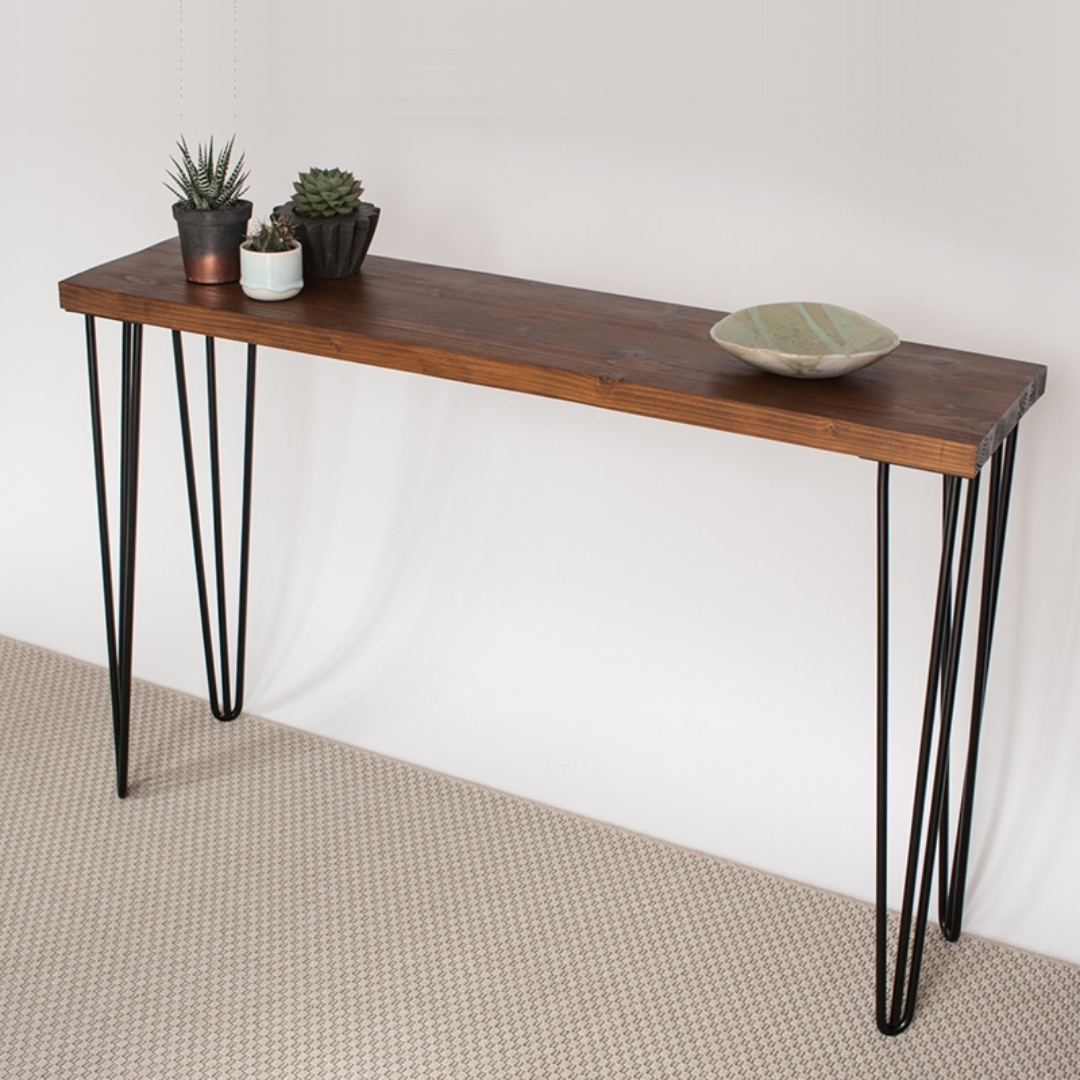 Entryway Wooden Table Hairpin Legs