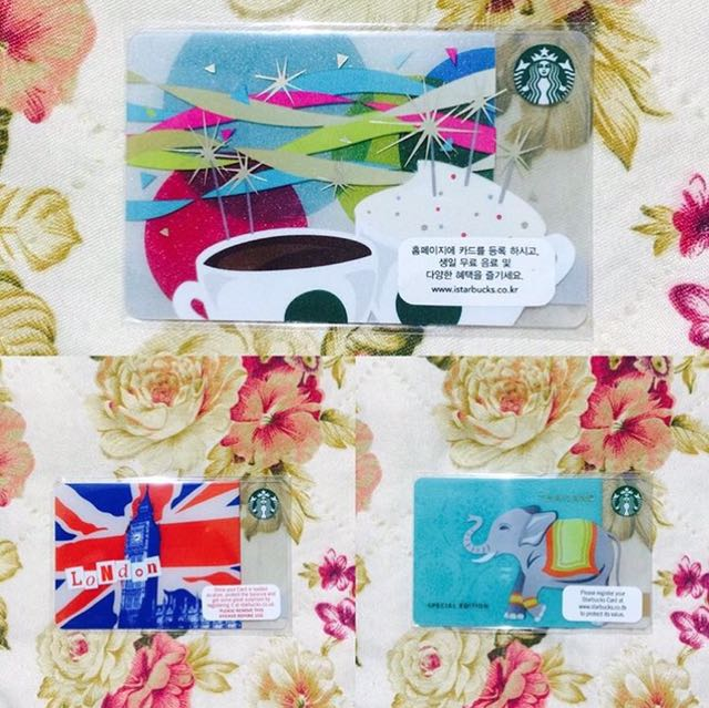 Exclusive Starbucks Cards