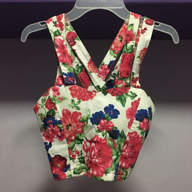 Floral Cropped Top Corset