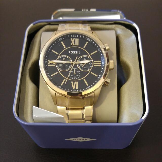 Fossil 金屬錶 黑金配色 新品正品 最後降價
