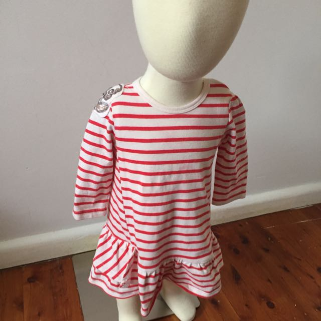 Fox And Finch Red Striped Dress Size 00
