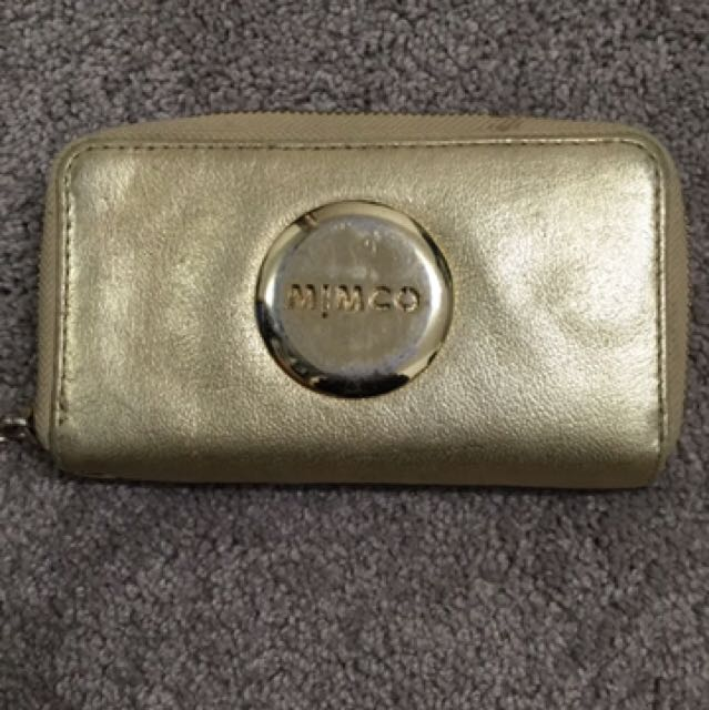 Gold Mimco Wallet