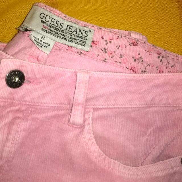 Guess Baby Pink Corduroy Pants