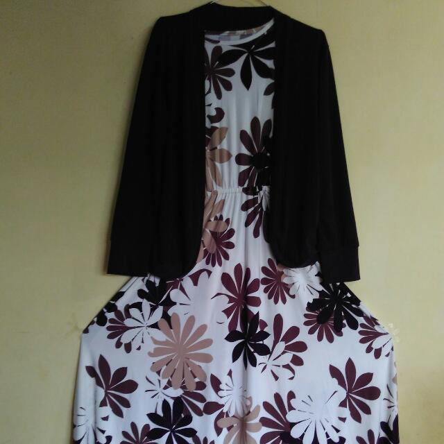 Hijab set motif bunga
