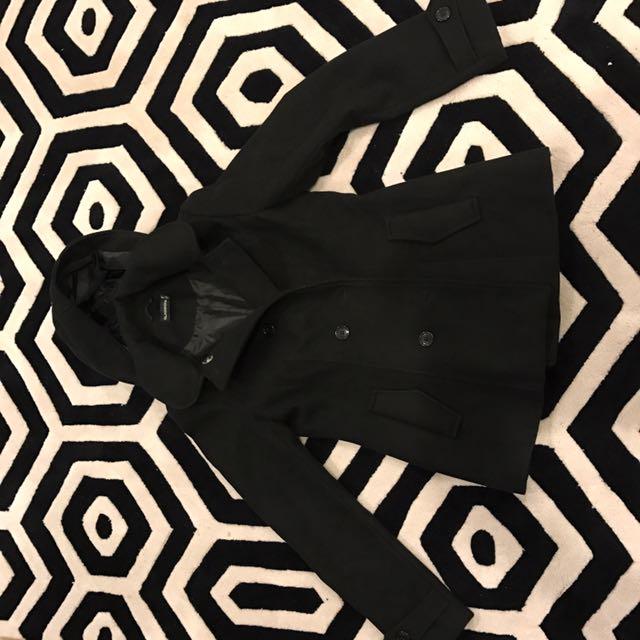 Hooded Black Coat