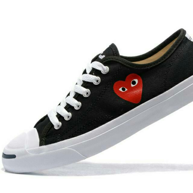 27aa9f78474 Instock! Japan CDG Play X Jack Purcell Converse Canvas Shoes ...