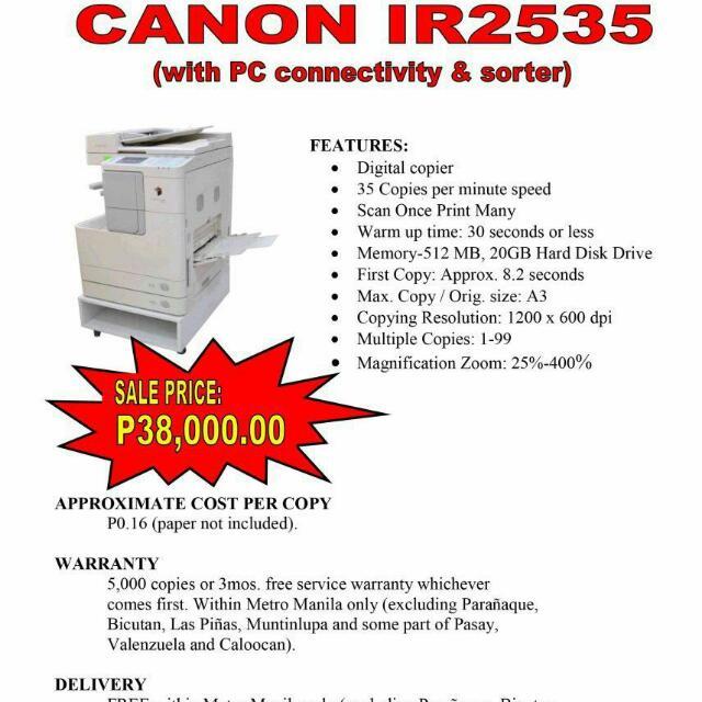 IR2535 CANON