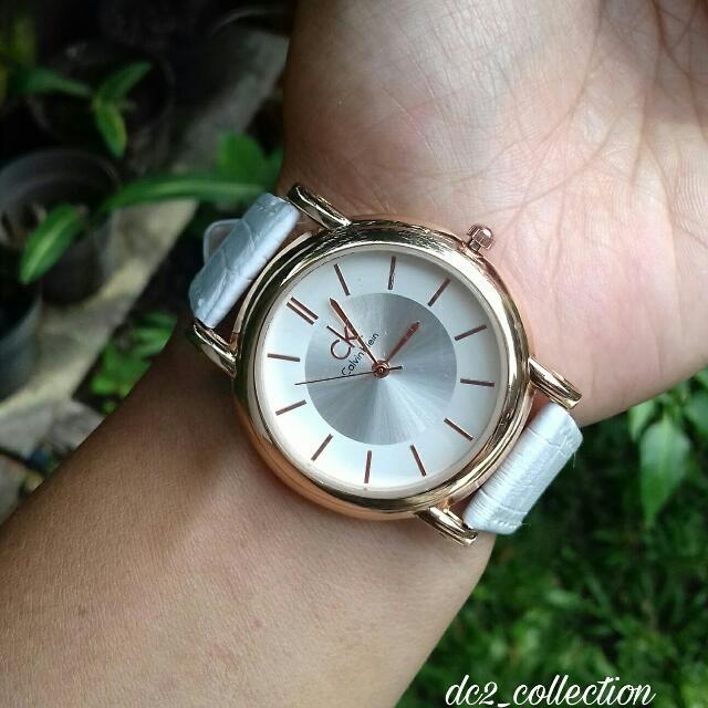 jam tangan ck putih