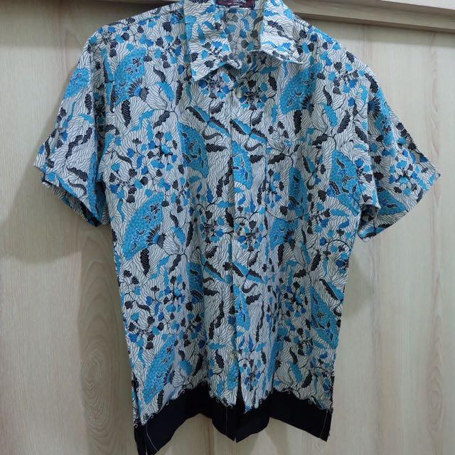Kemeja Batik Biru