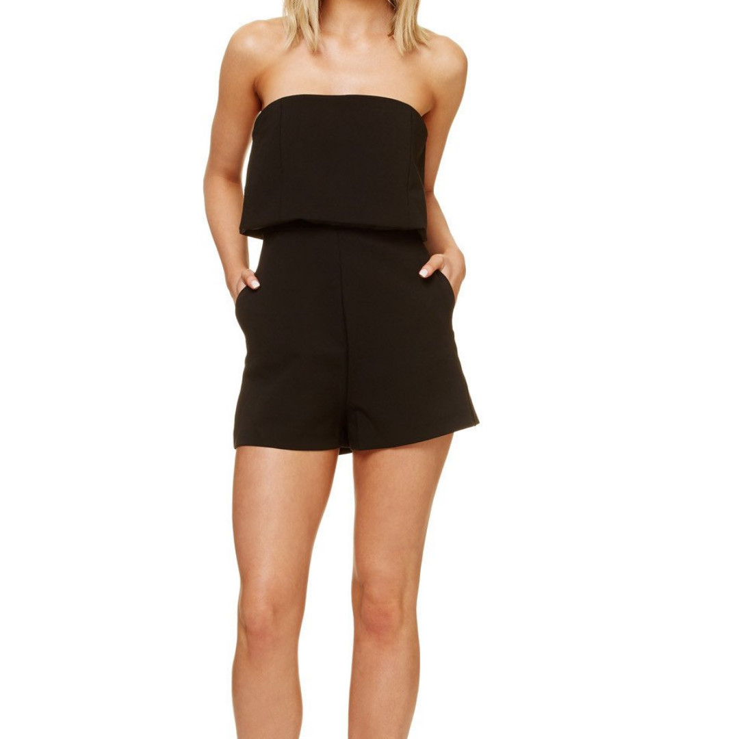5bb2ff62c710 KOOKAI Black Taylor Playsuit - size 36 - Brand New with tags ...