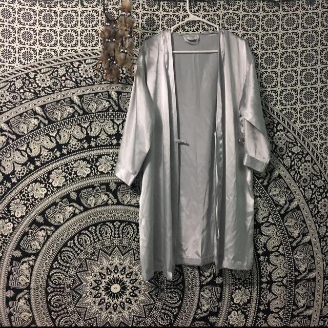 La Senza Silver Silk Robe