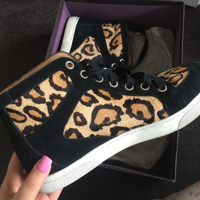 Leopard Sneakers By Enzo Angiolini - Size 9