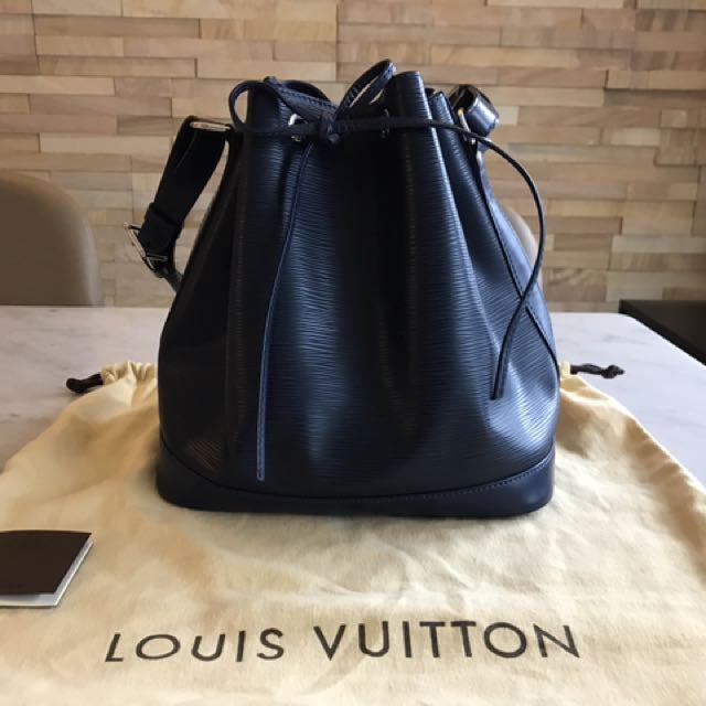 Louis Vuitton (LV) Epi Leather Indigo Petit Noe Bucket Bag 5d516afa55f3b