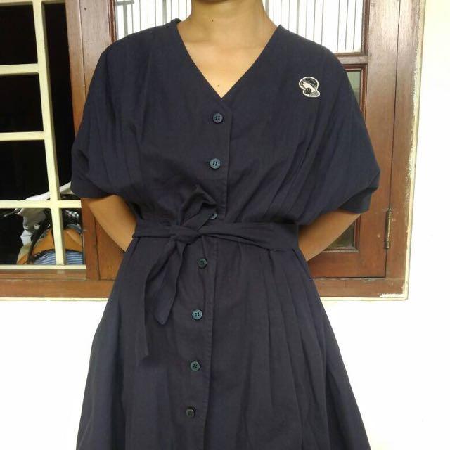 Majoli Family Kimono Dark Blue Dress