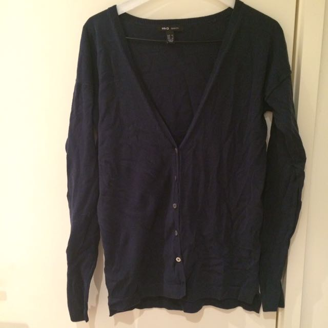 Mango Basics Navy Cardigan - XL
