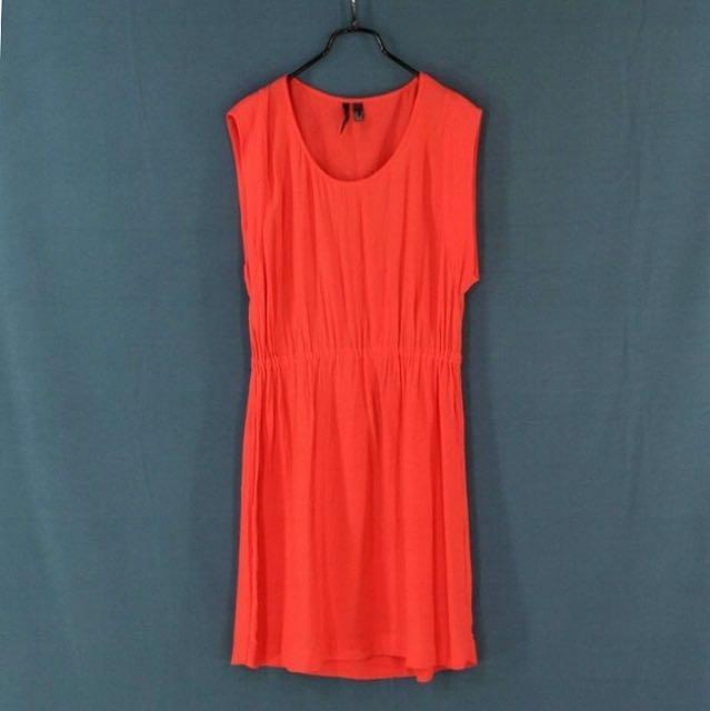 西班牙【MANGO】紅色無袖洋裝 S