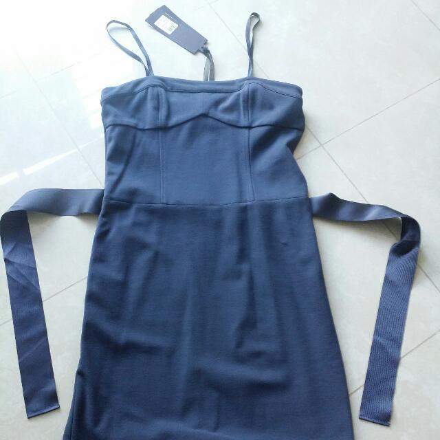 Classy Blue Fluttery Dress #IDoTrade
