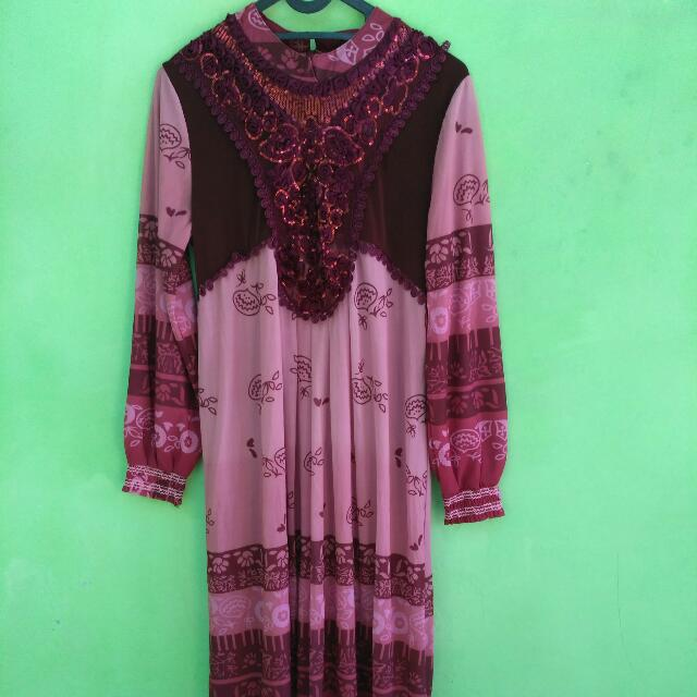 Maxi Dress Muslim Real Pict size M