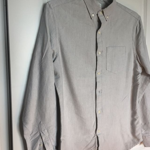 Men's gray dress shirt