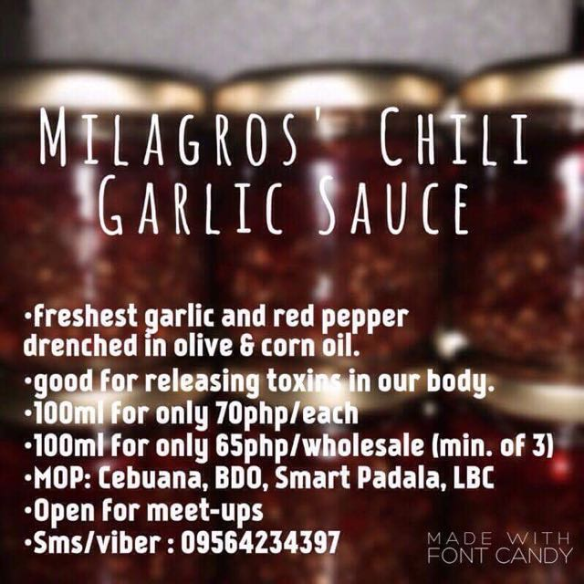 Milagros Chili Garlic Sauce💯