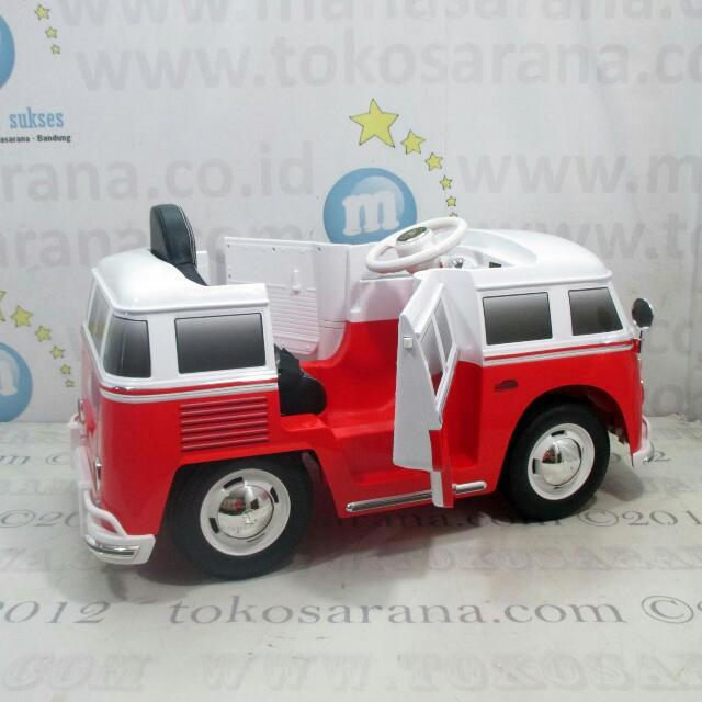 Mobil Mainan Anak Aki VW Combi Lisensi