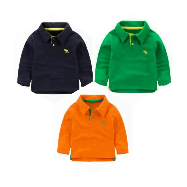 124f22222 Toddler Boy Long Sleeve Polo Shirt