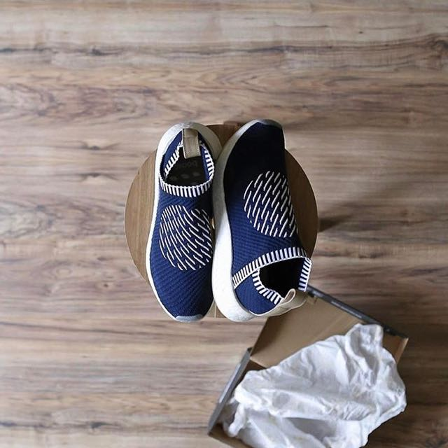 6ce3f41a5cca NEW  Adidas NMD CS2 PK Ronin Pack In Navy   White Stripes With Nude ...
