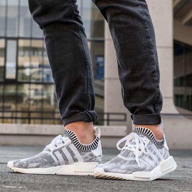 the latest 82192 1f92f NEW] Adidas NMD R1 PK Oreo Glitch, Men's Fashion, Footwear ...