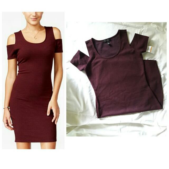 REPRICE (NEW) JESSICA SIMPSONS COLDSHOULDER BODYCON PARTY DRESS MINI PRELOVED BRANDED